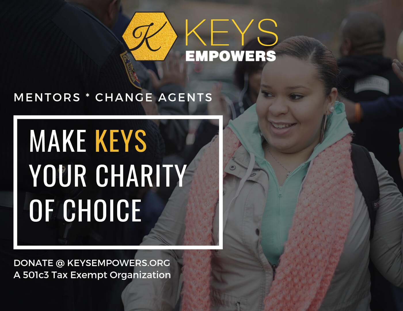 Make KEYS your charity of choice